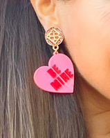 Be Mine Heart Dangle Earrings