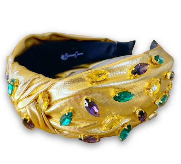 PRE SALE Crystal Studded Mardi Gras Headband