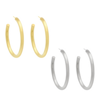 Midi Dune Hoops (Gold or Silver)