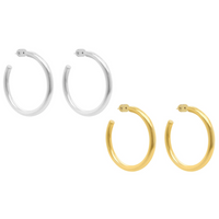 Small Dune Hoops (Gold or Silver)