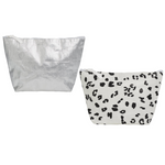 Light Beach Pouch (Silver or Black & White)