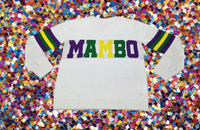 Mambo Mardi Gras Sweater WITH Sparkles