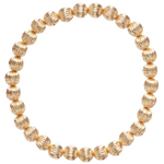 Gold Bead Bracelet, Dignity 6mm