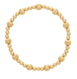 Gold Bead Bracelet, Dignity Sincerity Pattern 6mm
