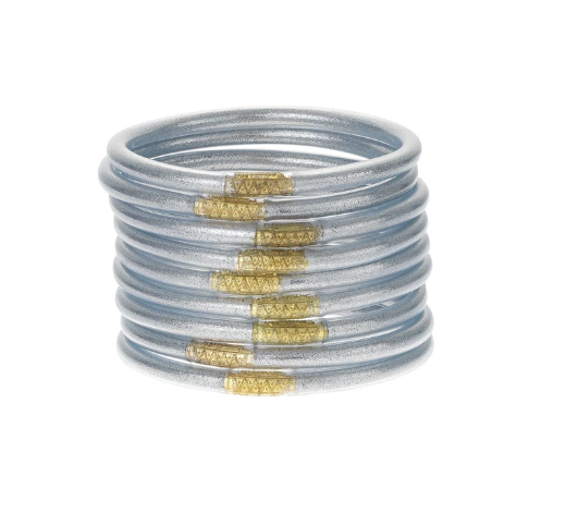 Budha Girl All Weather Bangles - Silver