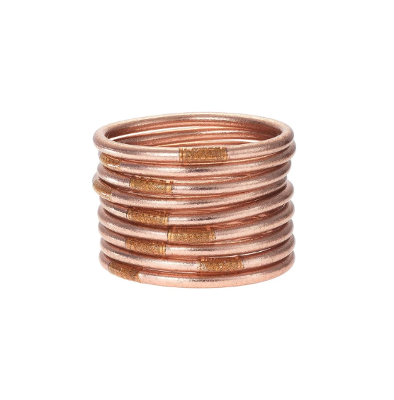 Budha Girl All Weather Bangles - Rose Gold
