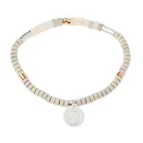 Stone Intention Charm Bracelet- Moonstone/Silver/Gold