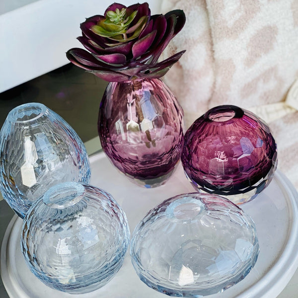 Beatriz Ball Faceted Bud Vases