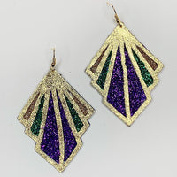 Mardi Gras Deco Earrings