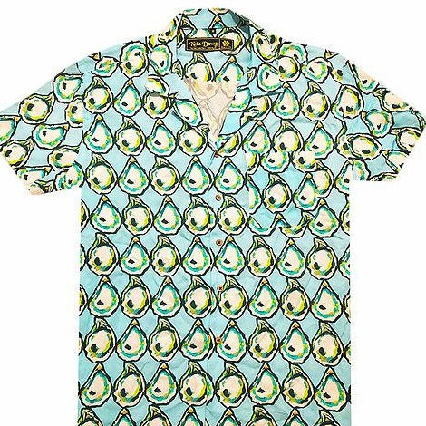 Blue Oyster Button Down Aloha Shirt