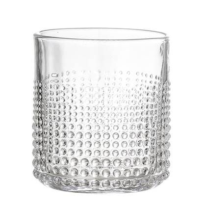 Embossed Drinking Glass, Clear