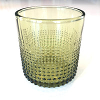 Embossed Drinking Glass, Green