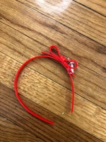 HB Thin Bow Acrylic Red