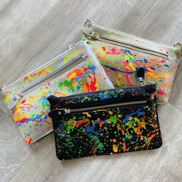 Alex One-Of-A-Kind Splatter Wristlet or Crossbody
