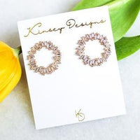Hendrix Full Circle Earrings - Clear Baguette