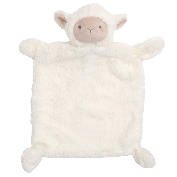 Cream Lambie Flat Baby Security Blanket