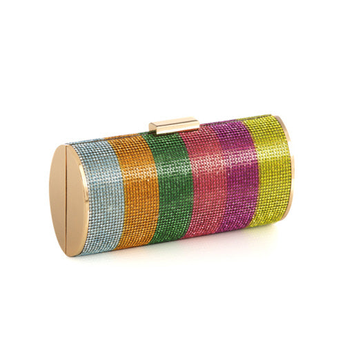 Multi Color Crystal Minaudiere