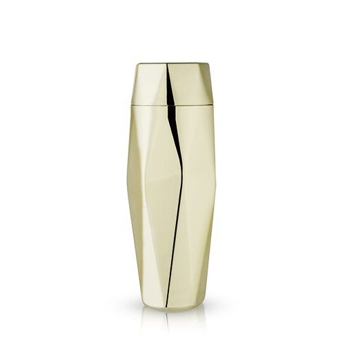 Faceted Gold Cocktail Shaker by Viski