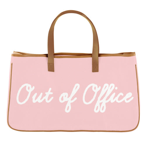 """Out of Office"" Canvas Tote"