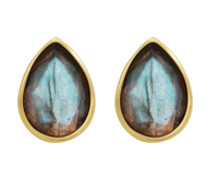 Teardrop Gemstone Studs
