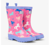 Painted Pasture Shiny Rain Boots