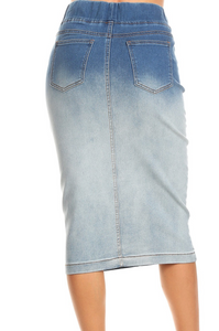 Ombre Denim Skirt