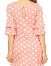 Load image into Gallery viewer, Pink and White Polka Dot Tunic
