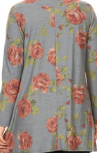 Load image into Gallery viewer, Plus Size Floral Print Tunic