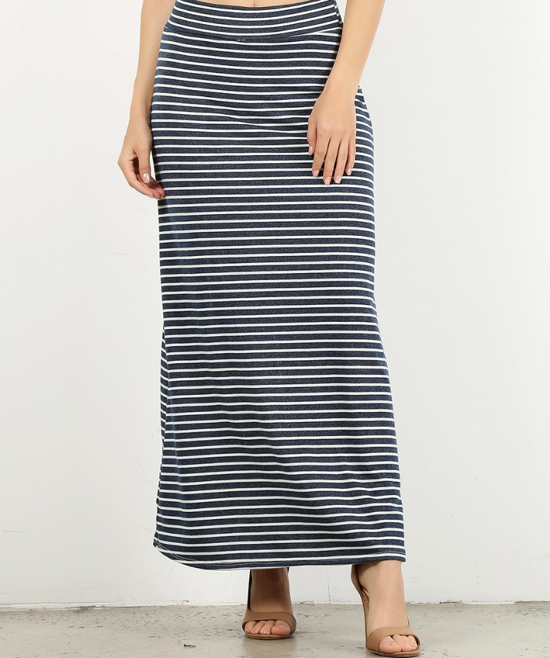 Stipe Maxi Skirt