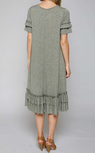 Ruffle Midi-Dress