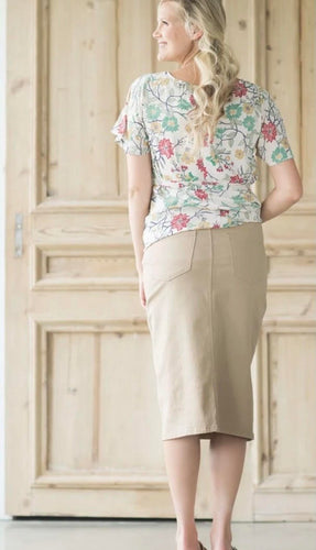 REMI LIGHT KHAKI MATERNITY SKIRT
