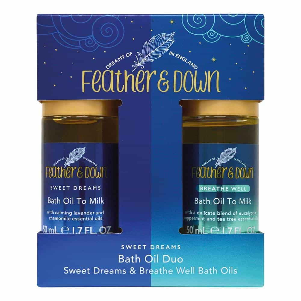 Feather & Down Bath Oil Duo Gift Set - Feather and Down