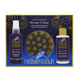 Feather & Down Massage to Sleep Gift Set