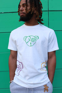 Bernard The Bear G4 T-Shirt (White) Mardi Gras Edition