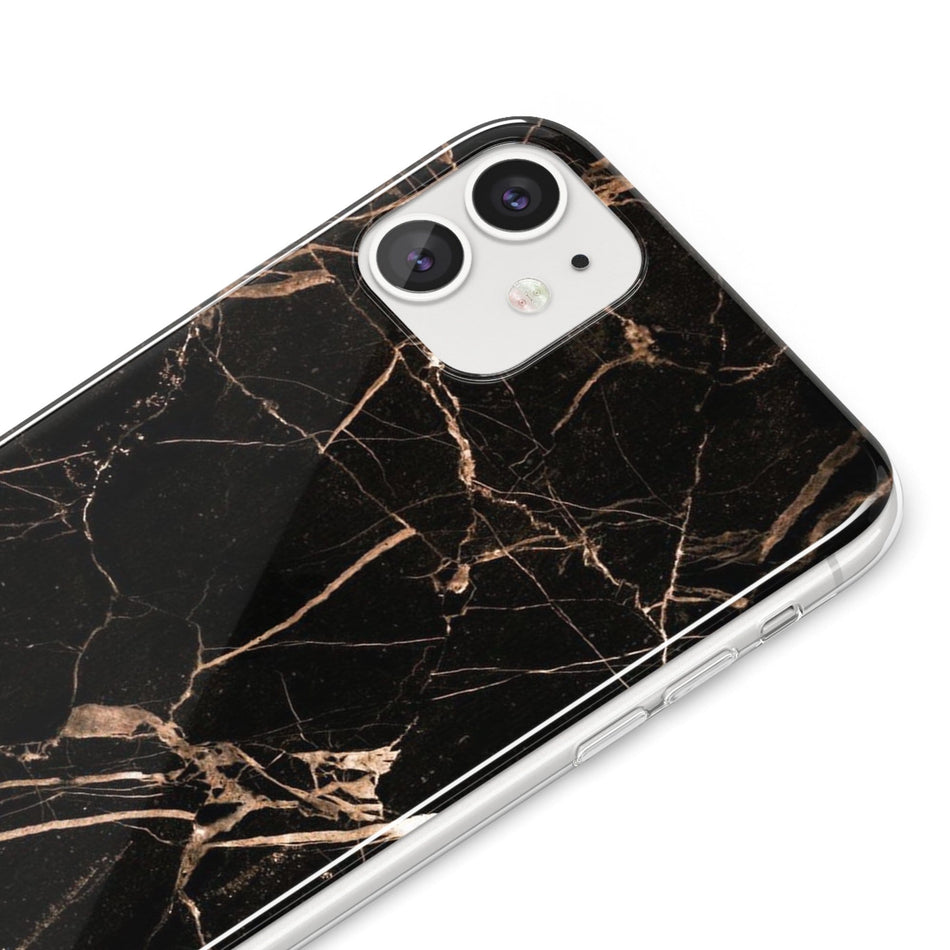 Golden black marble