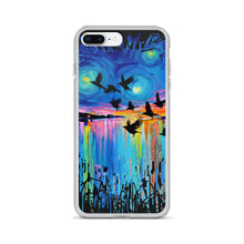 Load image into Gallery viewer, Murder of Crows At Sunset iPhone Case