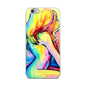 Morning Glory Abstract Nude iPhone Case