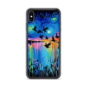 Murder of Crows At Sunset iPhone Case