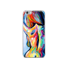 Load image into Gallery viewer, The Only Shadow Was Her Own Abstract Nude iPhone Case