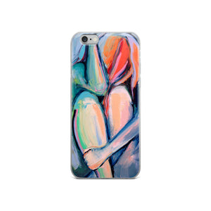 Claustrophobia Abstract Nude iPhone Case