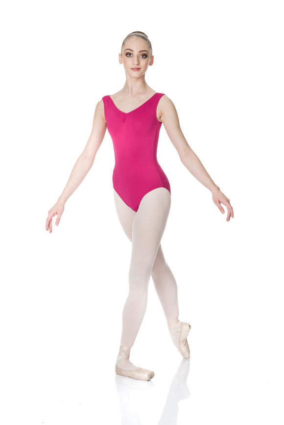 THICK STRAP LEOTARD GATHERED FRONT TACTEL ADULT TAL01 - STUDIO 7