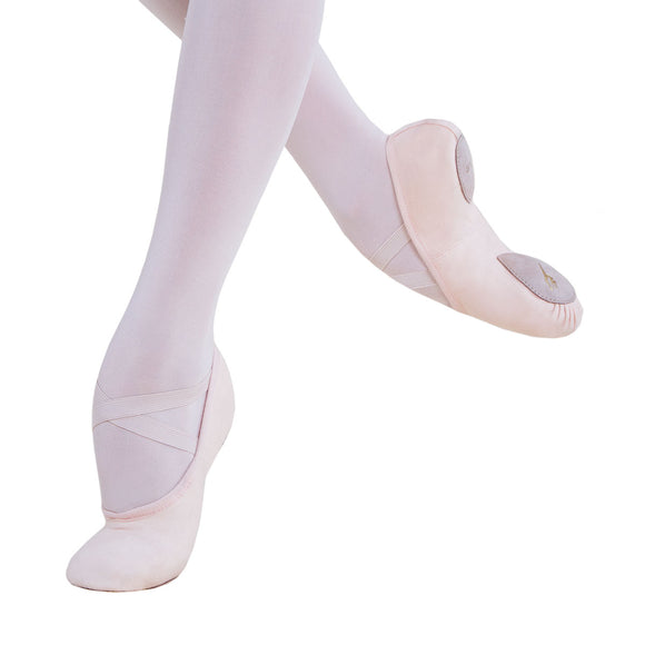 BALLET SHOE SPLIT SOLE PINK CANVAS CHILD BSC04 - ENERGETIKS