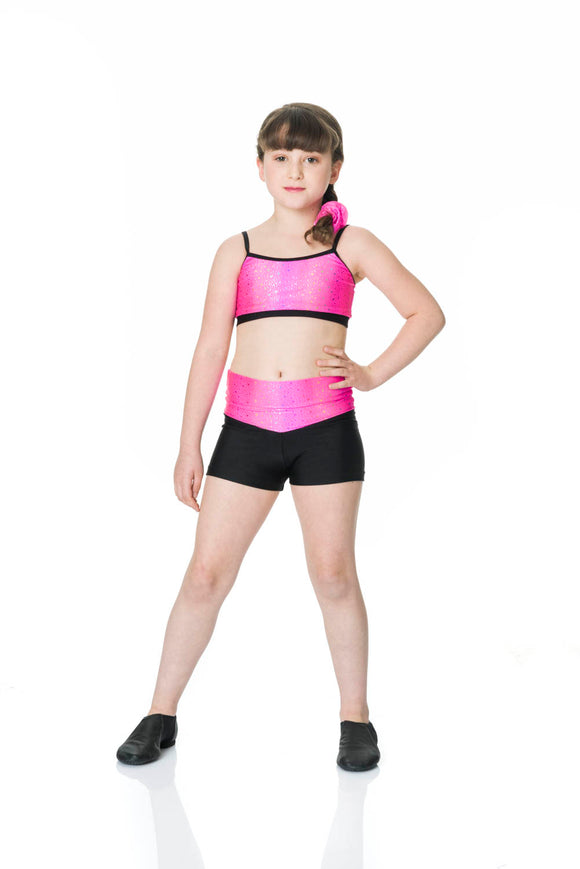 CHILDRENS GALAXY HIGH WAISTED SHORTS - CHS07 - STUDIO 7
