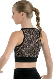 LACE BACK SLEEVELESS CROP