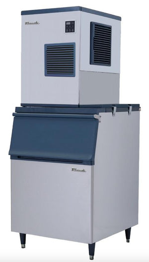 Blue-Air-BLMI-500A-Ice-Maker-on-BLIB-500S-Ice-Bin