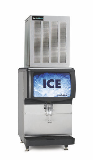 Ice-O-Matic GEM0956W Ice Maker On Countertop Dispenser