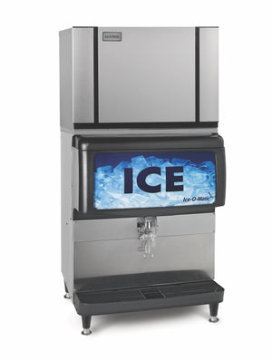 Ice-O-Matic IOD250 Countertop Ice Dispenser On CIM-30