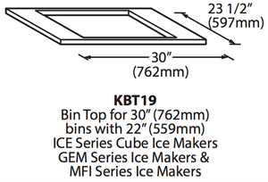 Ice-O-Matic KBT19 Ice Bin Adapter
