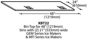 Ice-O-Matic KBT22 Ice Bin Adapter