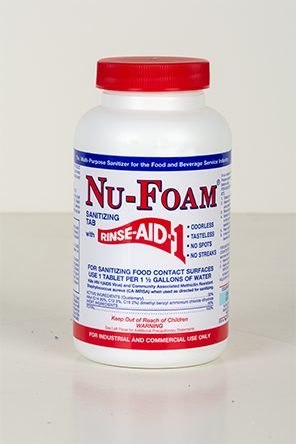 Nu-Foam Multi-Purpose Sanitizing Tablets with Rinse-Aid by Glissen Chemical Company